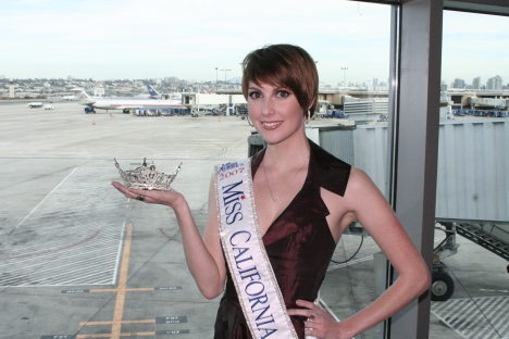 """Always take your crown as carry-on luggage,"" says Miss California 2007, Melissa Chaty."