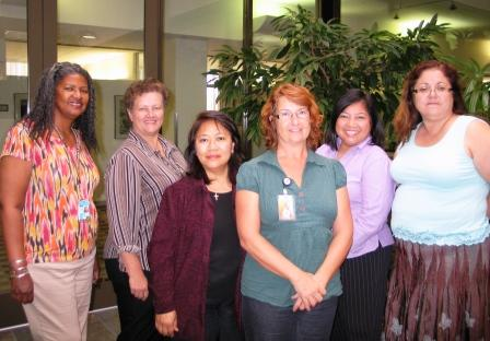 Here I am (far right) with contest participants (from left) Pat W., Patr J., Lou A., Robyn B. and Naty S.