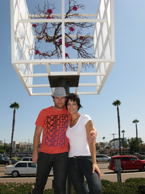 "Airport Authority employee Rachel, her husband Shawn ... and their Urban Tree called ""Office Arbor."""